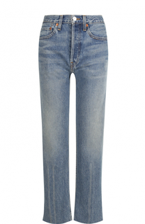Расклешенные джинсы с потертостями Re/Done