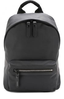 Кожаный рюкзак с внешним карманом на молнии Lanvin
