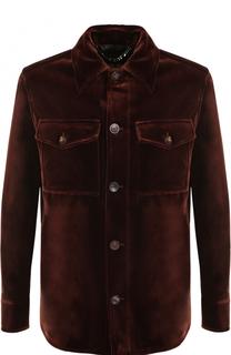 Куртка на пуговицах из смеси хлопка и шелка Brioni