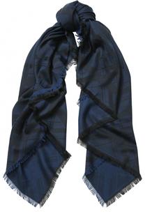 Хлопковый шарф с необработанным краем Kenzo