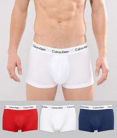 Набор из 3 пар эластичных хлопковых боксеров-брифов с заниженной талией Calvin Klein - Мульти