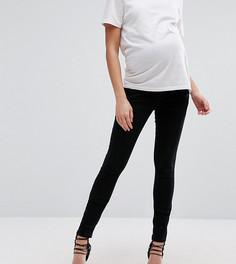 Черные джинсы скинни для беременных с поясом поверх животика ASOS Maternity Ridley - Черный