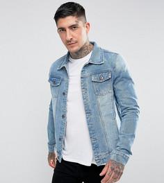 Классическая выбеленная джинсовая куртка Liquor N Poker - Синий