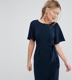 Платье с рукавами‑кимоно и поясом Closet London - Темно-синий