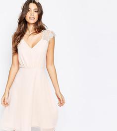Платье миди для выпускного с кружевом Elise Ryan - Розовый