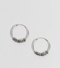 Серебряные серьги-кольца 14 MM с отделкой Kingsley Ryan - Серебряный