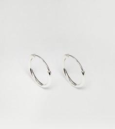 Серебряные серьги-кольца 12 мм Reclaimed Vintage - Серебряный