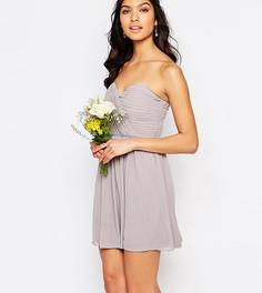 Шифоновое платье‑бандо мини TFNC WEDDING - Серый