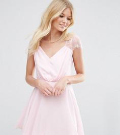 Кружевное платье мини ASOS PETITE Kate - Розовый