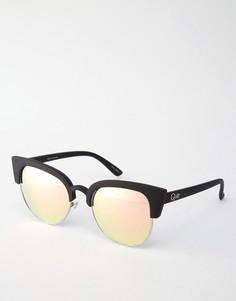 Солнцезащитные очки кошачий глаз Quay Australia Avalon - Розовый