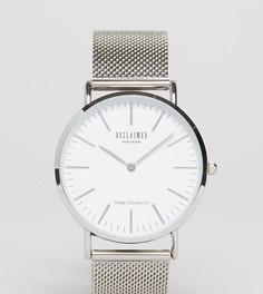 Серебристые классические часы с сетчатым браслетом Reclaimed Vintage Inspired эксклюзивно для ASOS - Золотой