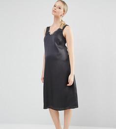 Платье-комбинация миди для беременных ASOS Maternity - Черный