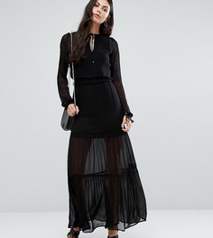 Ярусное платье макси Vero Moda Tall - Черный