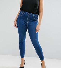 8fd134eaa25 Выбеленные джинсы скинни с завышенной талией ASOS CURVE Ridley - Синий