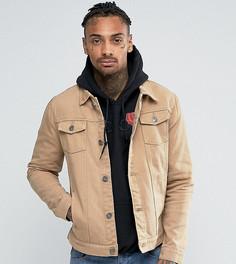 Светло-коричневая джинсовая куртка Liquor N Poker - Коричневый