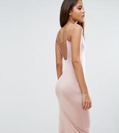 Платье миди с лямками ASOS TALL - Розовый