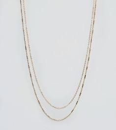 Золотистое ожерелье с двумя цепочками DesignB эксклюзивно для ASOS - Золотой