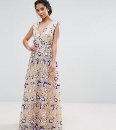 Платье макси с цветочной вышивкой True Decadence Petite Premium - Мульти