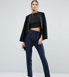 Тканые брюки‑галифе с поясом оби ASOS TALL - Темно-синий