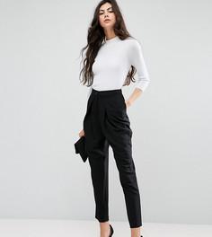 Строгие брюки-галифе с запахом ASOS TALL - Черный