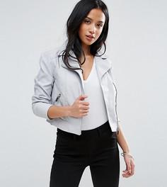 Байкерская куртка из искусственной кожи New Look Petite - Синий