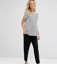 Трикотажные брюки-галифе с поясом на шнурке ASOS Maternity TALL - Черный