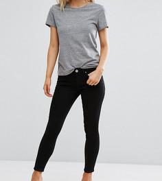 Черные джинсы скинни с заниженной талией ASOS PETITE WHITBY - Черный