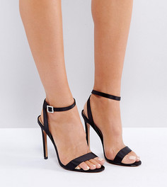 Босоножки на каблуке с пряжкой ASOS HOPEFUL - Черный