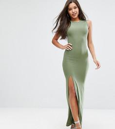 Платье макси с высоким воротом Club L - Зеленый