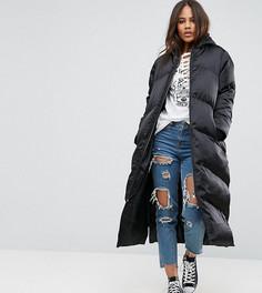 Длинная дутая куртка ASOS TALL - Черный