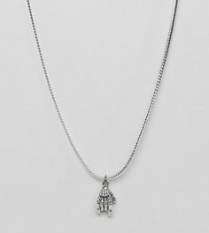 Серебряная цепочка со скелетом ASOS - Серебряный