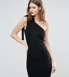 Платье мини на одно плечо для высоких девушек Oh My Love - Черный