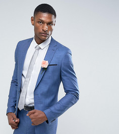Синий пиджак узкого кроя из ткани с отливом ASOS TALL Wedding - Синий