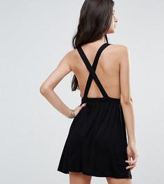 Пляжное платье мини ASOS PETITE - Черный
