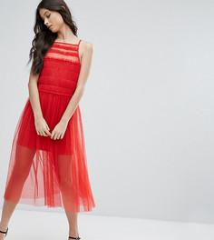 Платье миди ASOS PETITE - Красный