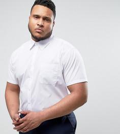 Строгая белая рубашка с короткими рукавами Duke PLUS - Белый