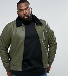 Куртка из искусственной кожи Barneys PLUS - Зеленый Barneys Originals