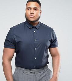 Темно-синяя зауженная рубашка ASOS PLUS - Темно-синий