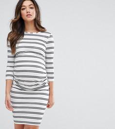 Облегающее платье в полоску ASOS Maternity - Белый