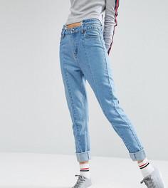Прямые джинсы с необработанной отделкой на поясе Daisy Street Tall - Синий