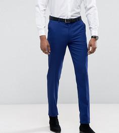 Ярко-голубые брюки скинни под смокинг ASOS TALL - Синий
