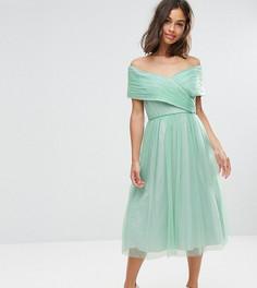 Платье миди из тюля ASOS PETITE WEDDING - Зеленый