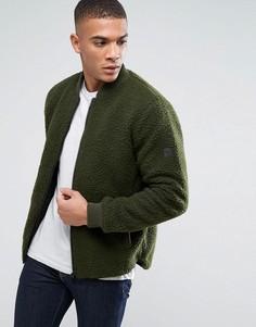 Куртка из плюшевой пряжи Solid - Зеленый !Solid