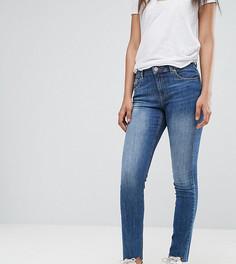 Темные винтажные джинсы бойфренда с асимметричными краями ASOS TALL KIMMI - Синий