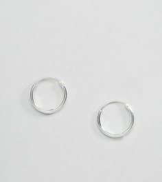 Серебряные серьги-кольца 12 мм ASOS - Серебряный