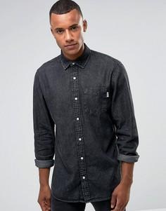 Выбеленная черная джинсовая рубашка свободного кроя Jack & Jones Intelligence - Черный