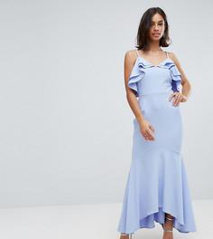 Платье макси асимметричной длины John Zack Petite - Синий