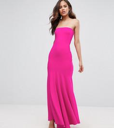 Платье-бандо макси с юбкой-годе John Zack Tall - Розовый