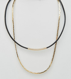 2 ожерелья - чокер и цепочка DesignB - эксклюзивно для ASOS - Золотой