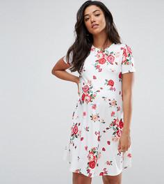 Свободное платье с цветочным принтом ASOS Maternity - Белый